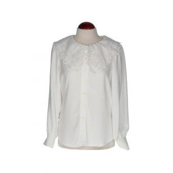 Camisa blanca cuello bordado