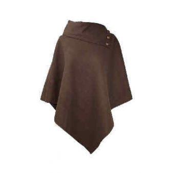 Brown poncho