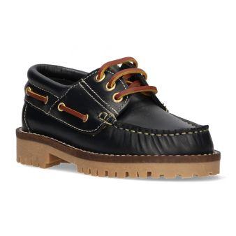Zapato náutico niño marino