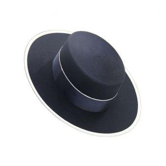 Sombrero lana 120 gr. Marino