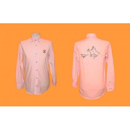 Camisa caballero rayas rosa galgo