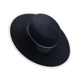 Navy Wool Hat