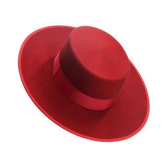 Sombrero lana 180 gr. Rojo
