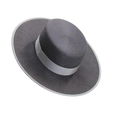 Sombrero Pelo Gris Claro