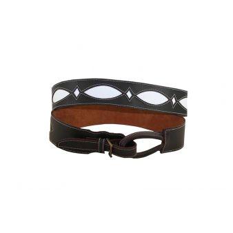 Cinturon engrasado con fondo blanco