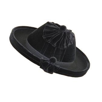 Black velvet Catite model hat