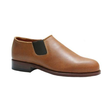 Zapato con elásticos para polaina ternera natural