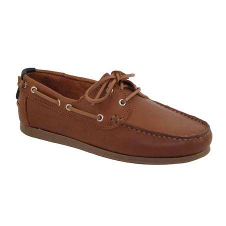 Zapato Náutico Cuero Claro