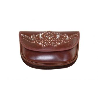 Pilgrimage pouch in leather...