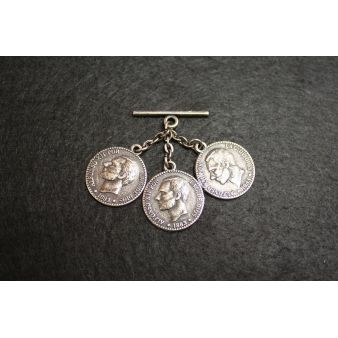 Aged Nickel Beads 3 Coins