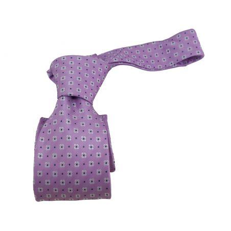 Corbata lila con flores