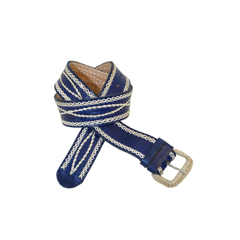 Cinturon marino con filo blanco