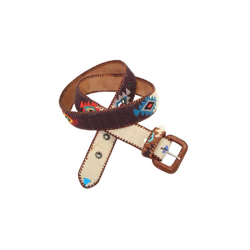 Cinturon Naif marron-azul