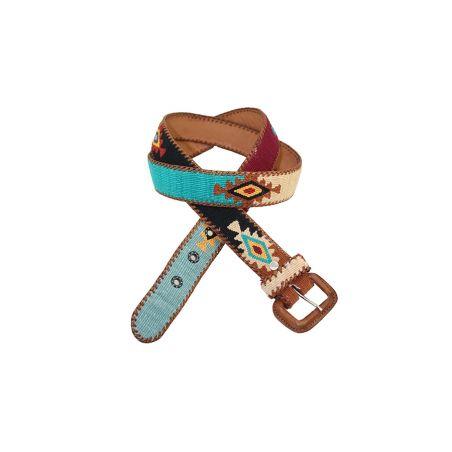 Cinturon Naif negro-verde-beig