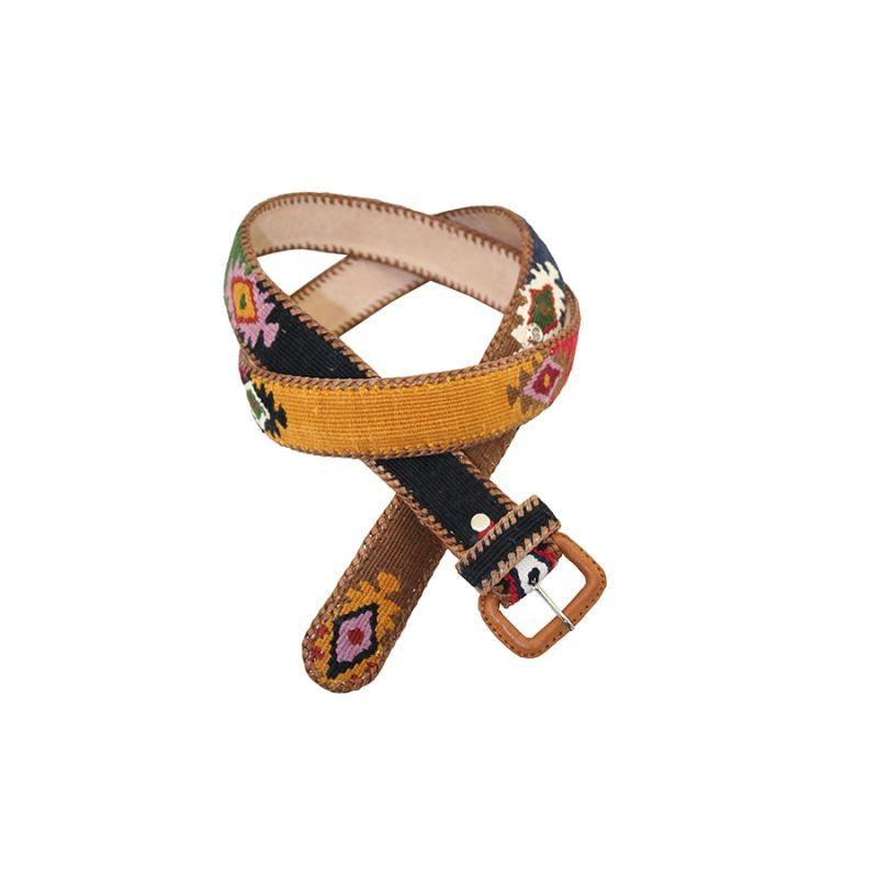 Cinturon Naif negro-verde-rojo-amarillo