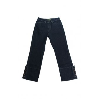 Dark denim country trousers