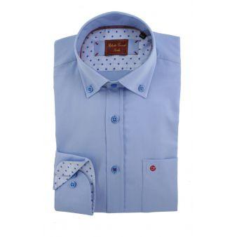 Camisa celeste contrastada