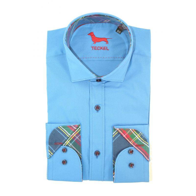 Camisa teckel turquesa