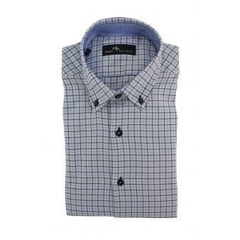 Camisa Dos Galgos blanca con cuadros