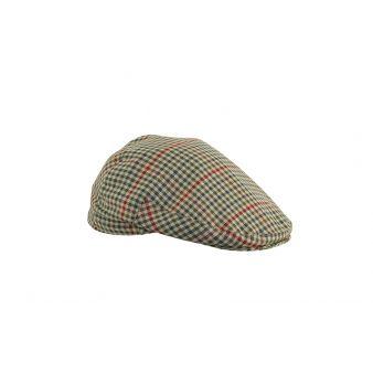 Gorra inglesa cuadros verdes