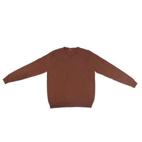 Jersey cuello pico marrón