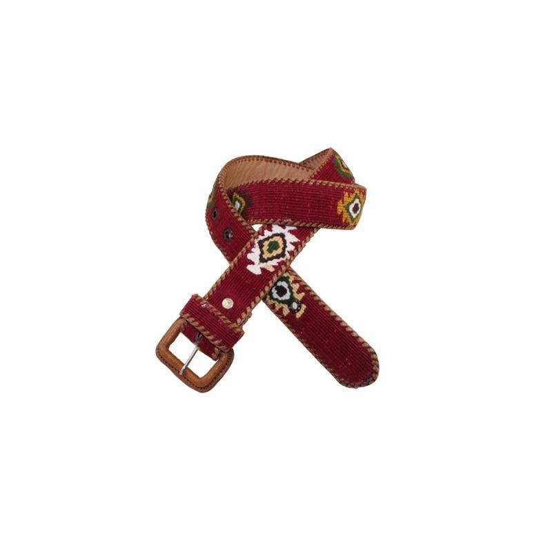 Cinturón naif burdeos