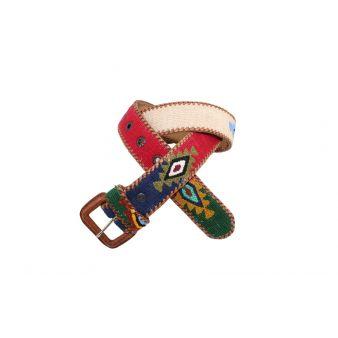 Cinturón naif beige-azul-rojo-verde