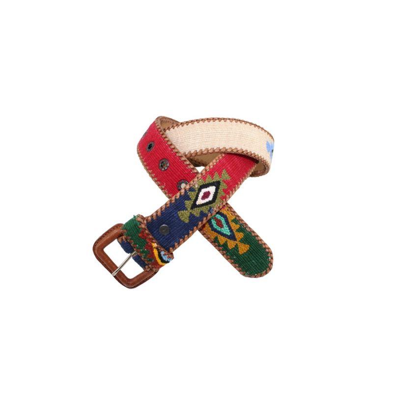 Cinturon Naif beig-azul-rojo-verde