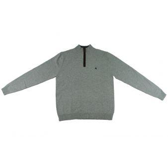 Jersey con cremaller gris