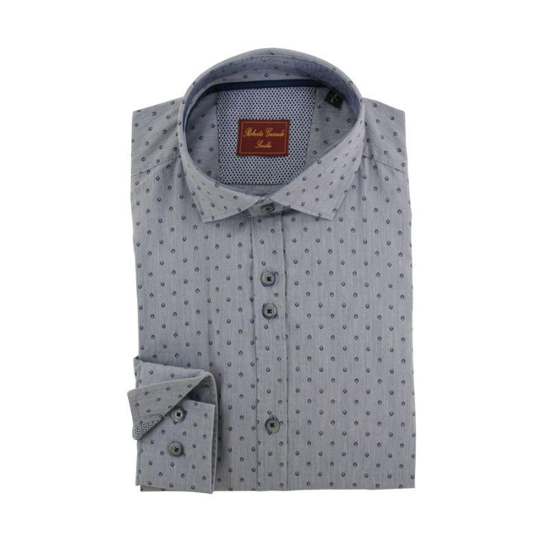 Camisa gris adornos calaveras