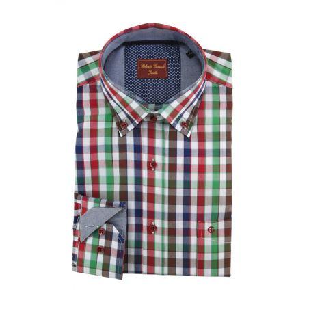 Camisa cuadros rojo-azul-marron-verde
