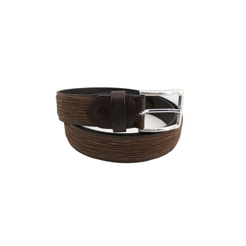 Cinturón rayado marrón