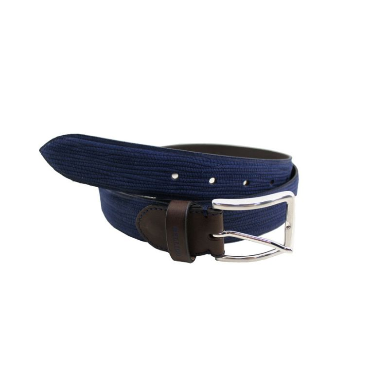 Cinturón rayado azul