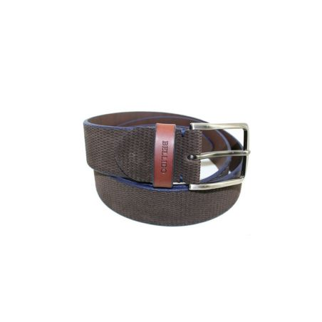 Cinturón pana marrón-azul