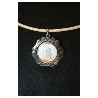 Necklace with boy's image