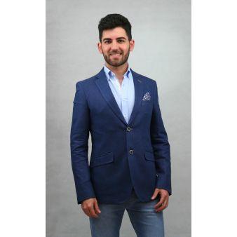 Americana Lino Azul