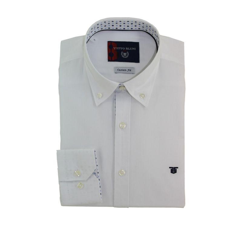 Camisa Oxford blanco