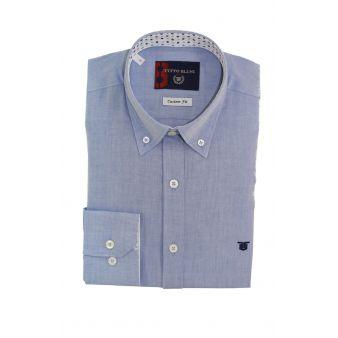 Camisa Oxford azulon