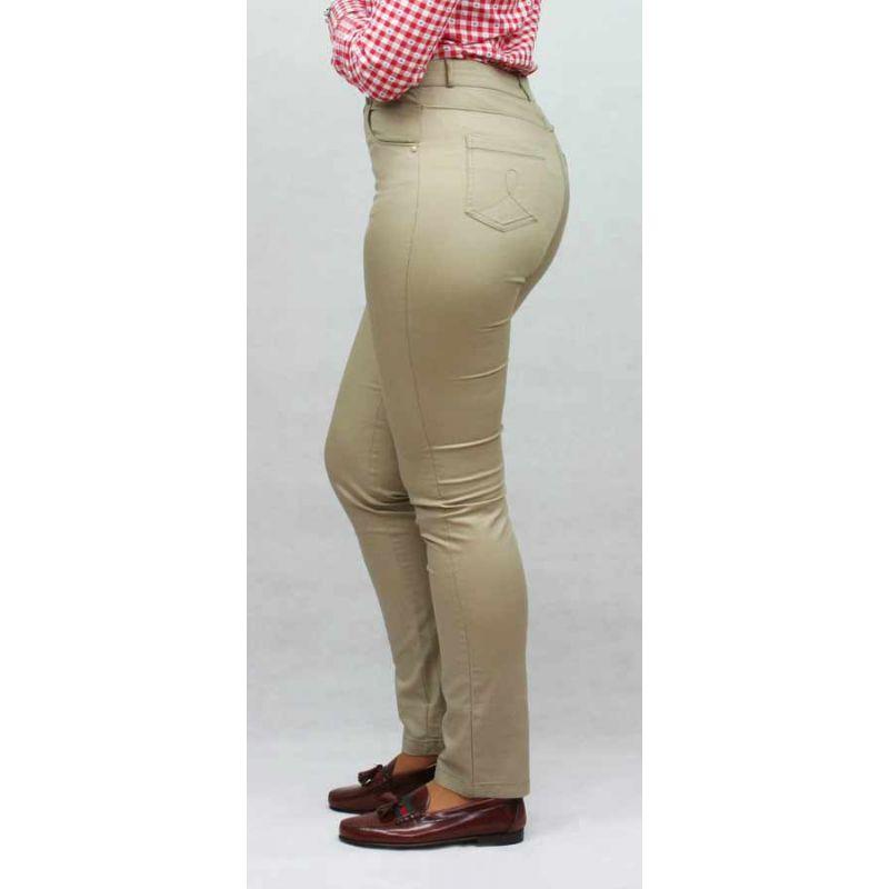 Pantalón elástico Beige