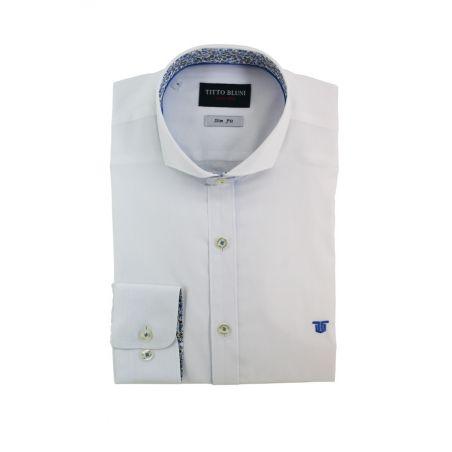 Camisa blanca contrastada