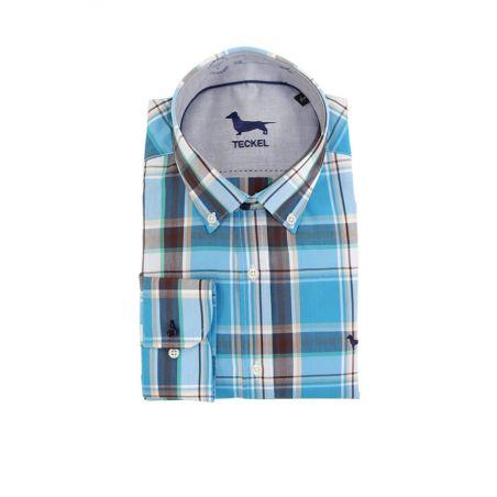 Camisa cuadros tonos azules