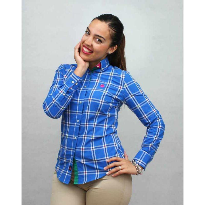 Camisa Sra. cuadros azules