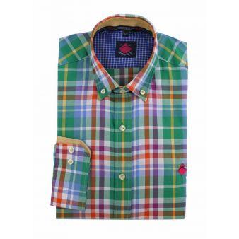 Camisa cuadros multiverde