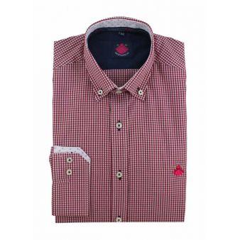 Camisa cuadros vichy rojo