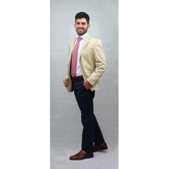 Pantalón Arol Marino con cinturón