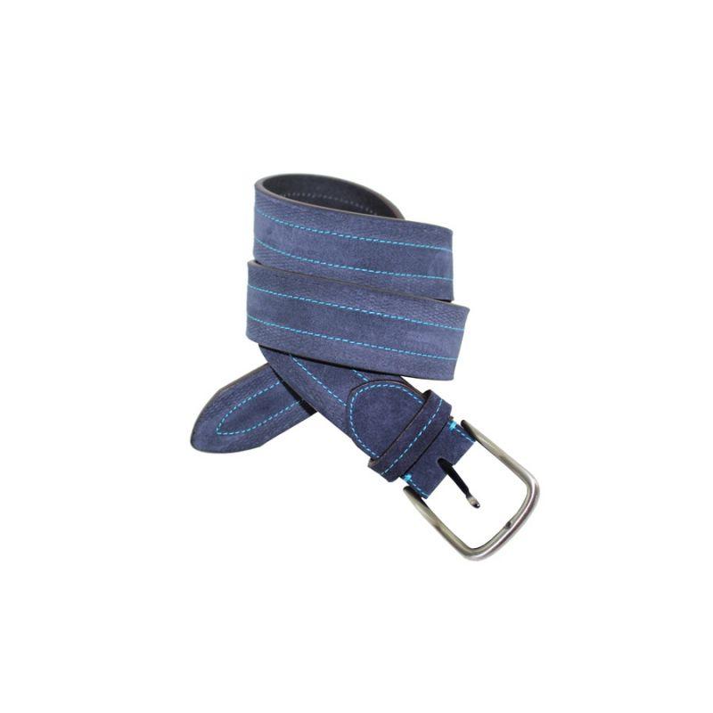 Cinturón pespunteado marino