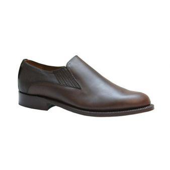 Zapato para polaina elásticos ternera tabaco