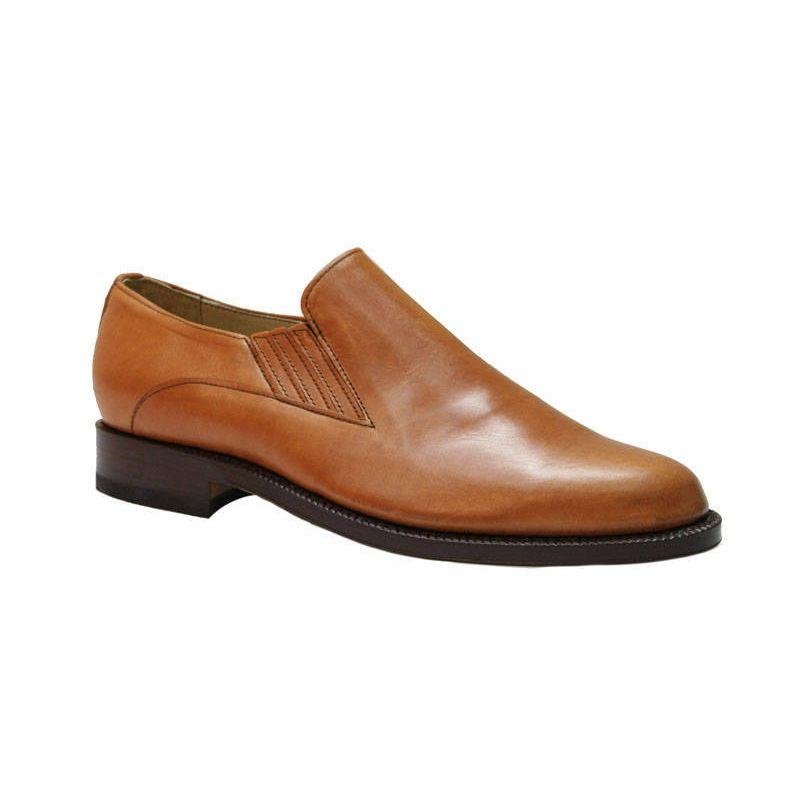 Zapato para polaina elásticos ternera natural