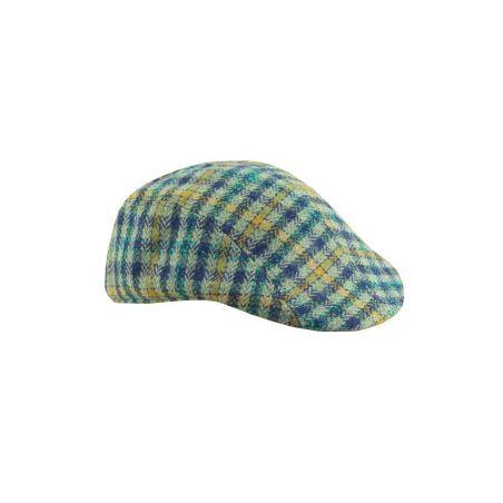 Gorra campera cuadros verdes