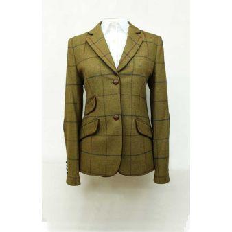 Chaqueta señora lana cuadros verde